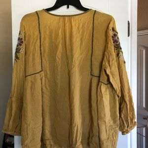 Sonoma boho embroidered floral blouse - size 2X
